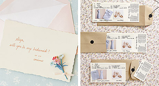 bridesmaid letters and cards