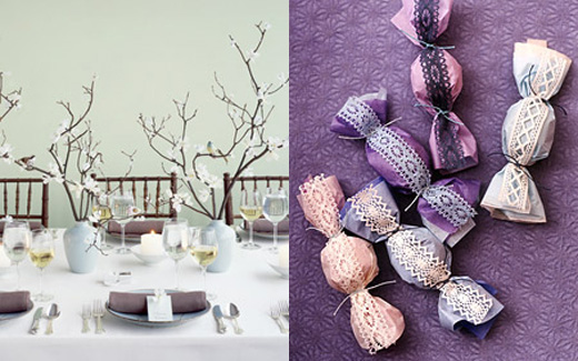 Check out inspirations for Lavendar and Red color gray weddings