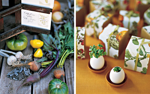 vegetable wedding decor