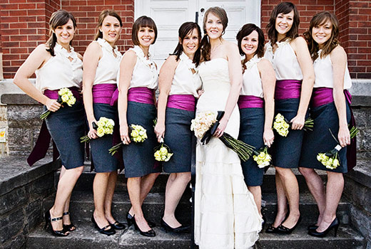 pencil skirt bridesmaid