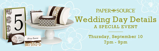 wedding day details paper source