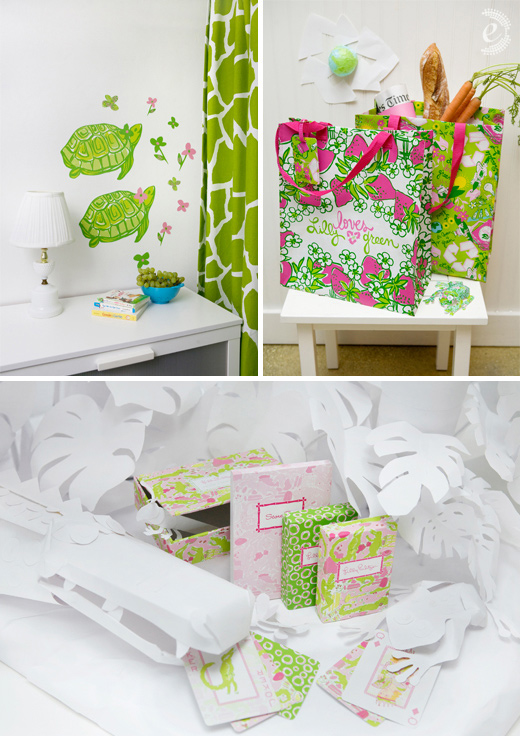 lilly pulitzer spring stationery gifts lifeguard press wall decals