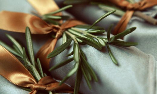 rosemary dinner napkins weddings