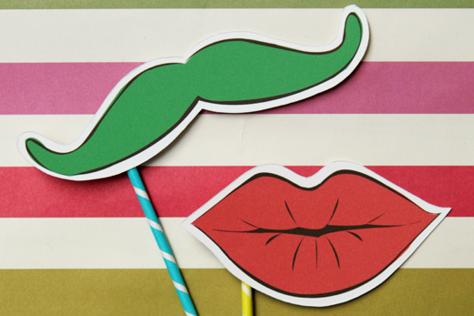 holiday colored photo props smitten sticks mustache