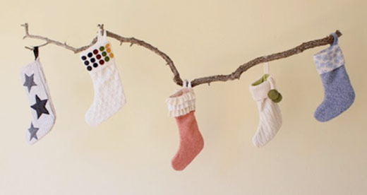 diy sweater stockings holiday