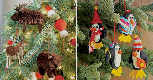 crate and barrel felt buri ornaments - Crate And Barrel Christmas Decorations