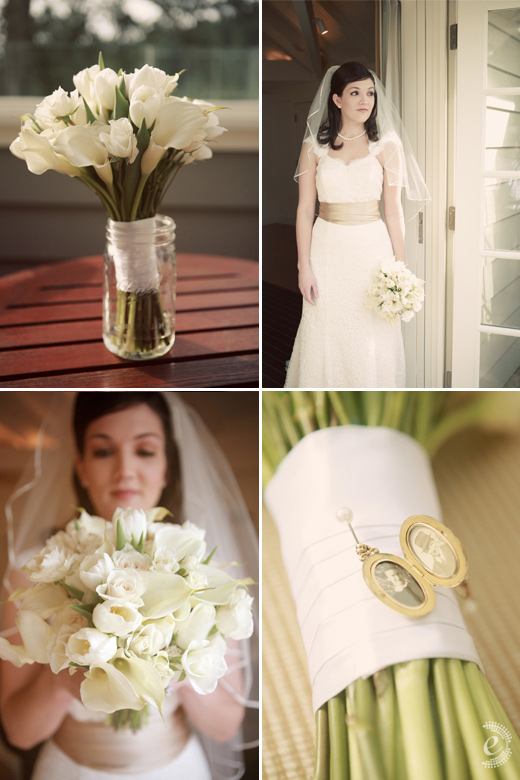 real wedding vineyard wine country white bouquet vintage