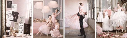 ballet inspired weddings pink