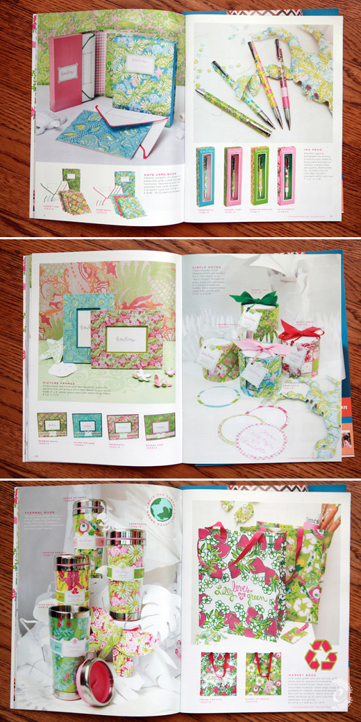 lilly pulitzer stationery catalog product photography