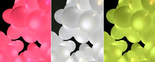 led balloon lights props