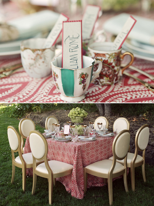 san francisco outdoor wedding reception art deco chairs