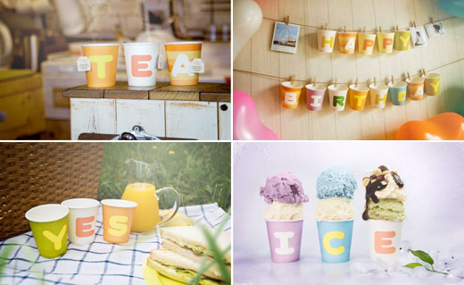 abc paper cups industrial design wedding