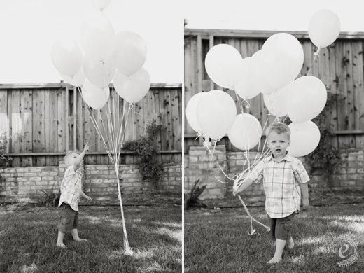 kid portraits black and white balloons san francisco