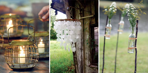 Trend of 2010 & 2011 – Recycled Outdoor Wedding Decor | Edyta