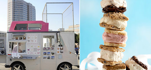 food trucks ice cream sandwich