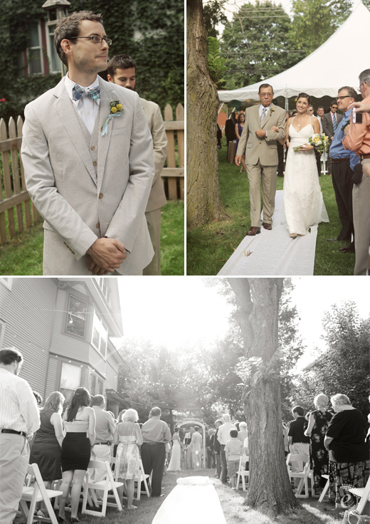 classic backyard wedding ceremony