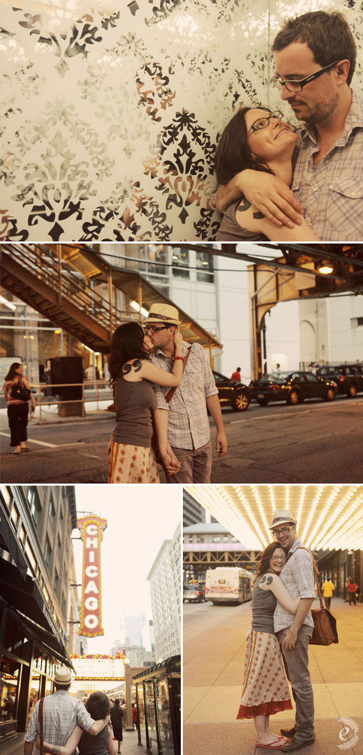 urban engagement couple
