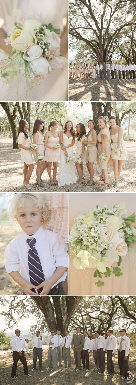 beltane ranch wedding nude pink bridesmaids dresses