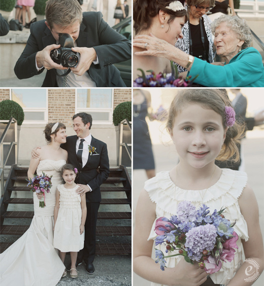 real wedding warehouse gallery portraits