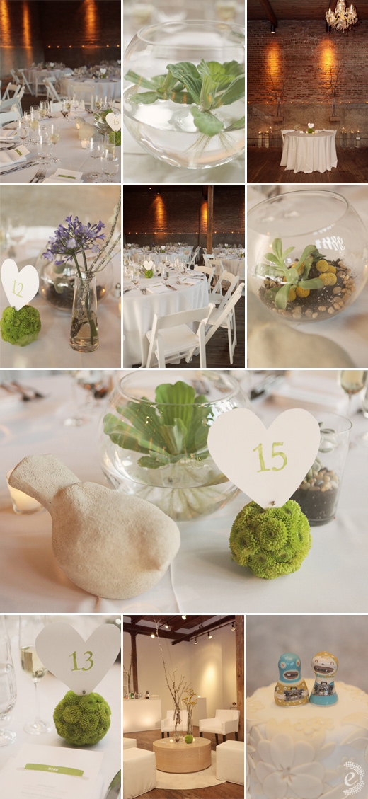 gallery 1028 chandelier white green succulents hearts