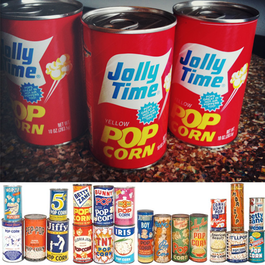 jolly time popcorn tins vintage