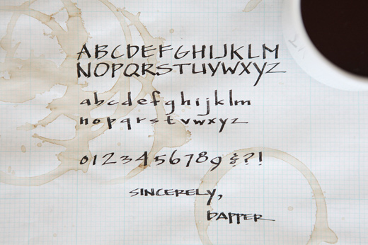 sincerely dapper calligraphy handwriting modern