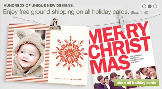 holiday minted cards