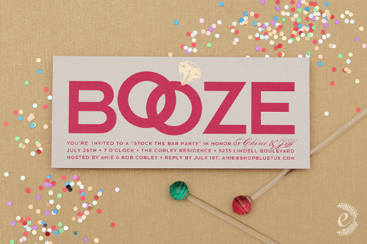 modern party invitations