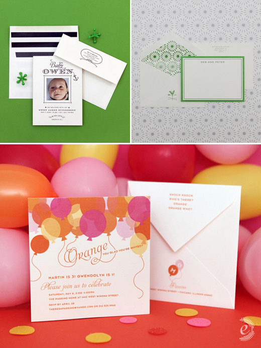 modern party invitations baby announcements