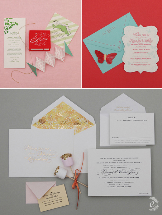 modern party wedding invitations