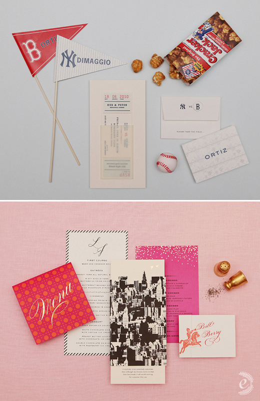 modern party invitations menus