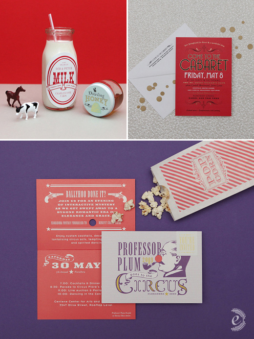 modern party invitations custom stickers