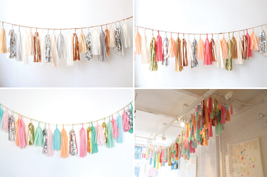 tassel garland weddings ceiling