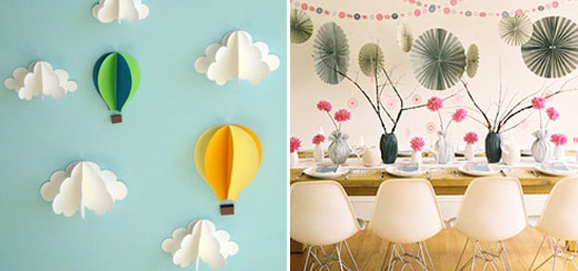paper fans 3d clouds