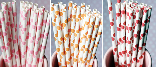 polka dot party straws
