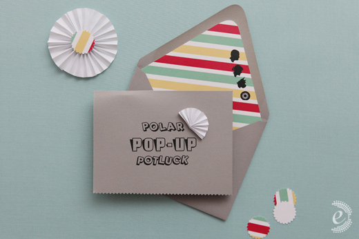 striped envelope liner invitation
