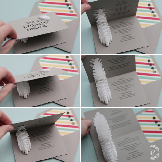 pop-up paper invitation