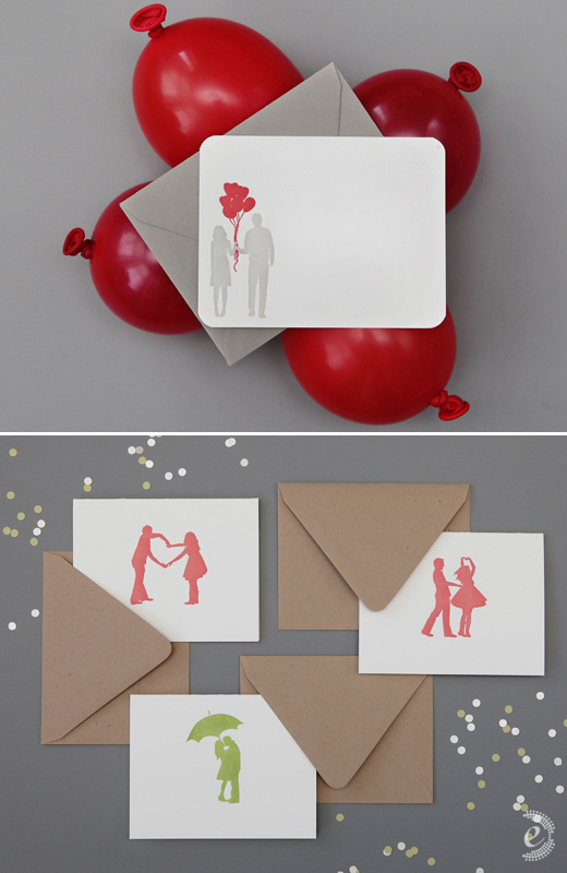 stationery card photo styling red balloons