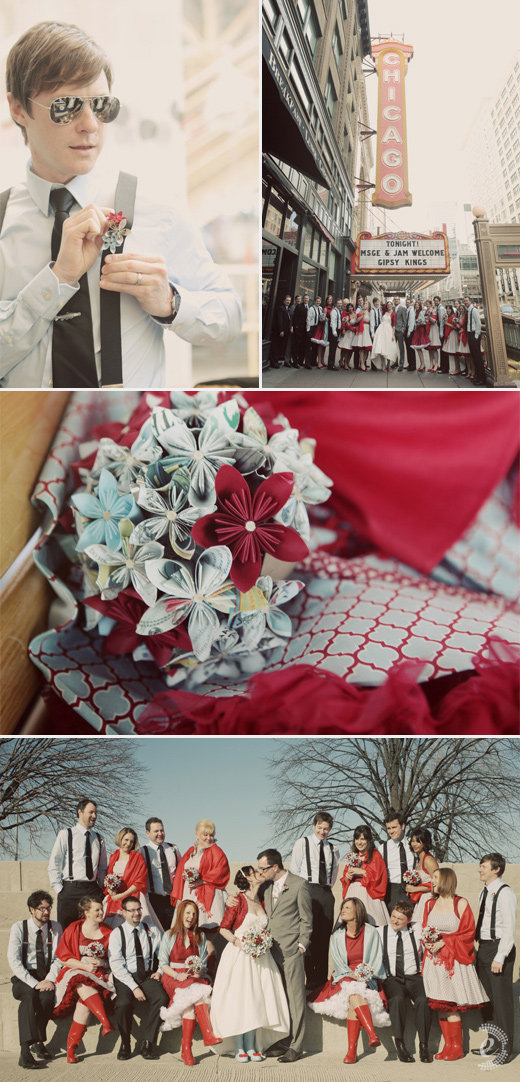 periwinkle red bridal party