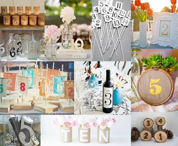 Table Number Ideas Inspirations