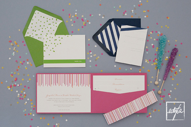 Crazy cute wedding invitations from Dear LC A couple months ago