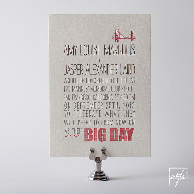 Product Photography HelloLucky Letterpress Wedding Invitations 1