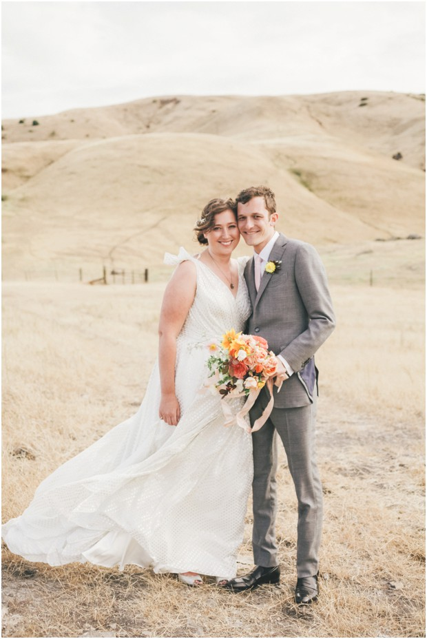 Sonoma Industrial Barn Wedding with Pops of Color