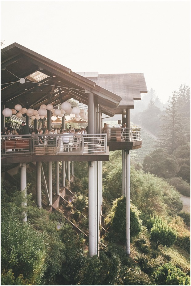 wine country rustic wedding thomas fogarty winery